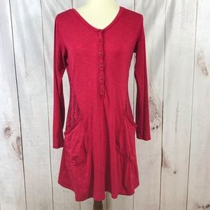 Honey Toad T9 Rooney Henley Long Sleeve Dress